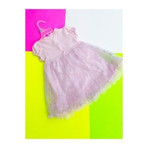 Pink Lace and Tulle Dress Ruffles New Easter